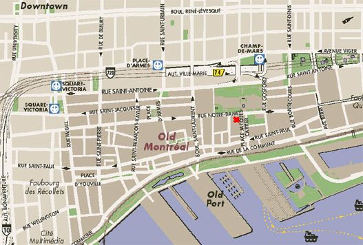 Times Journeys 8 – Tourist Map Of Montreal